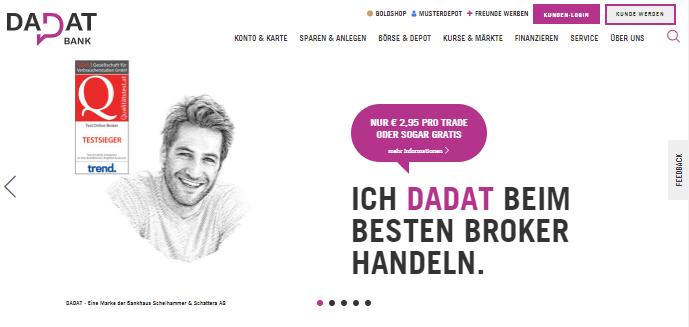 Dada Broker Homepage