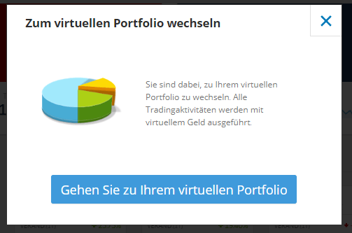 Virtuelles Portfolio bei eToro