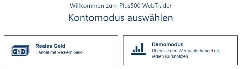 Plus500 Kontomodus